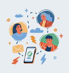 Online conversation vector