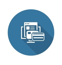 Online Payment Icon Flat Design vector