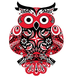 Owl Red vector