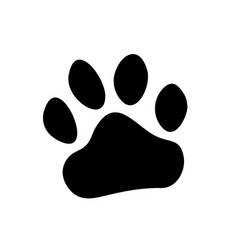 Paw prints logo isolated vector