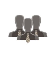 people business group businessman silhouette team vector image