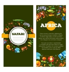 Postcard flat design african icons vector