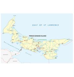 Prince edward island road map vector