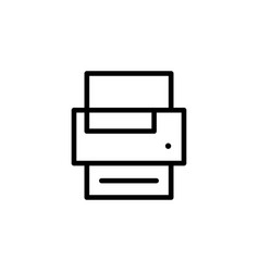 printer icon can be used for web logo mobile app vector image