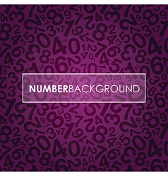 Purple number background vector