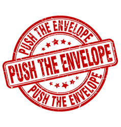 Push the envelope red grunge stamp vector