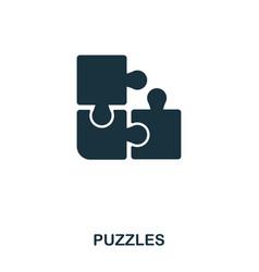 puzzles icon line style icon design ui vector image