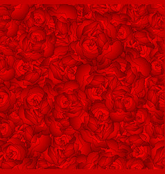 red carnation flower seamless background vector image