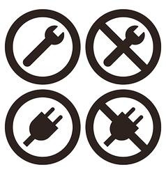 Repair und plug sumbols vector