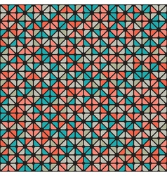 Seamless pattern of colored triangle vector image