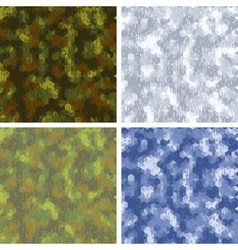 Seamless stylized camouflage patterns with vector image