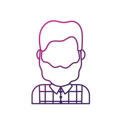 silhouette cute man with hairstyle design and vector image