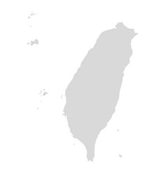 taiwan map icon taiwan country map island vector image