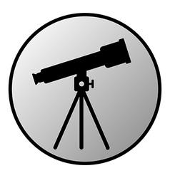 Telescope button vector image