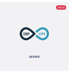 Two color devops icon from technology concept vector