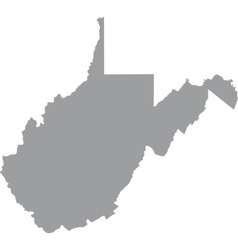 US state of West Virginia vector image