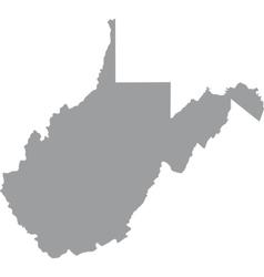 Us state west virginia vector