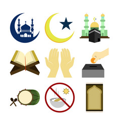 Various islamic design set vector