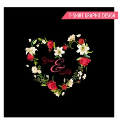 Vintage Floral Graphic Design Summer Rose vector