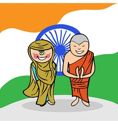 Welcome to India people vector image
