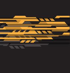 yellow grey geometric futuristic cyber on black vector image