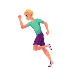 young and handsome male runner sprinter jogger vector image
