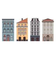 Beautiful detailed linear cityscape collection vector image vector image