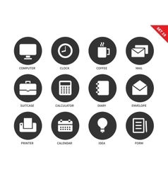 Business icons on white background vector image vector image