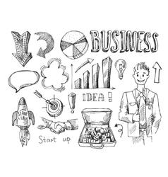 business sketch vector image