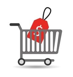 buying cart sale money design vector image