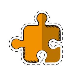 cartoon puzzle strategy creativity abstract vector image