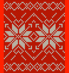nordic knitted perfect seamless pattern eps 10 vector image vector image