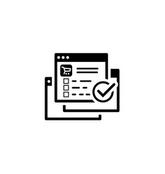 order processing icon flat design vector image vector image