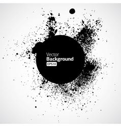 Black grunge ink splat shapes vector image vector image