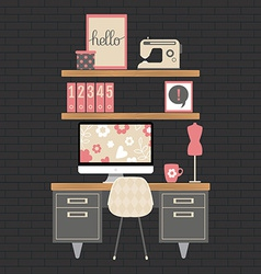 modern home office workspace vector image