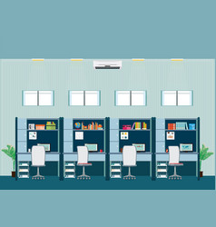 modern office interior with office desk vector image