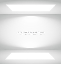 studio lights presentation background vector image vector image