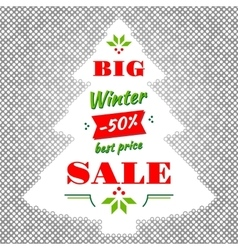 Winter and Christmas Big Sale abstract vector image
