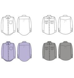 Man shirts vector image vector image