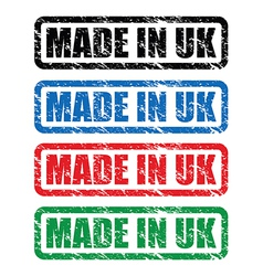 made in uk stamp3 vector image