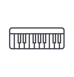 modern synthesizer line icon sig vector image vector image