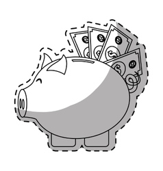 piggy bank money icon image vector image vector image