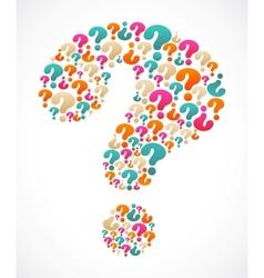 question mark speech bubble vector image vector image