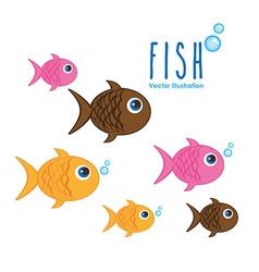 sea animals design vector image vector image