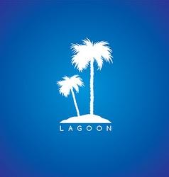 seaside beach theme logo vector image