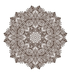 abstract round lace design mandala vector image