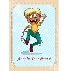 Ants in your pants vector
