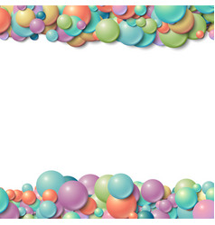 Background frame with scattered messy glowing vector