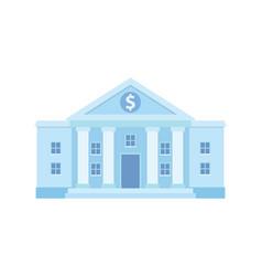 bank building facade vector image