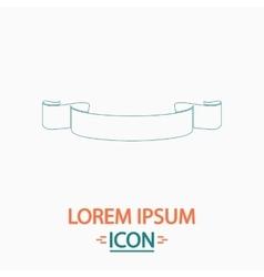 Banner ribbon computer symbol vector